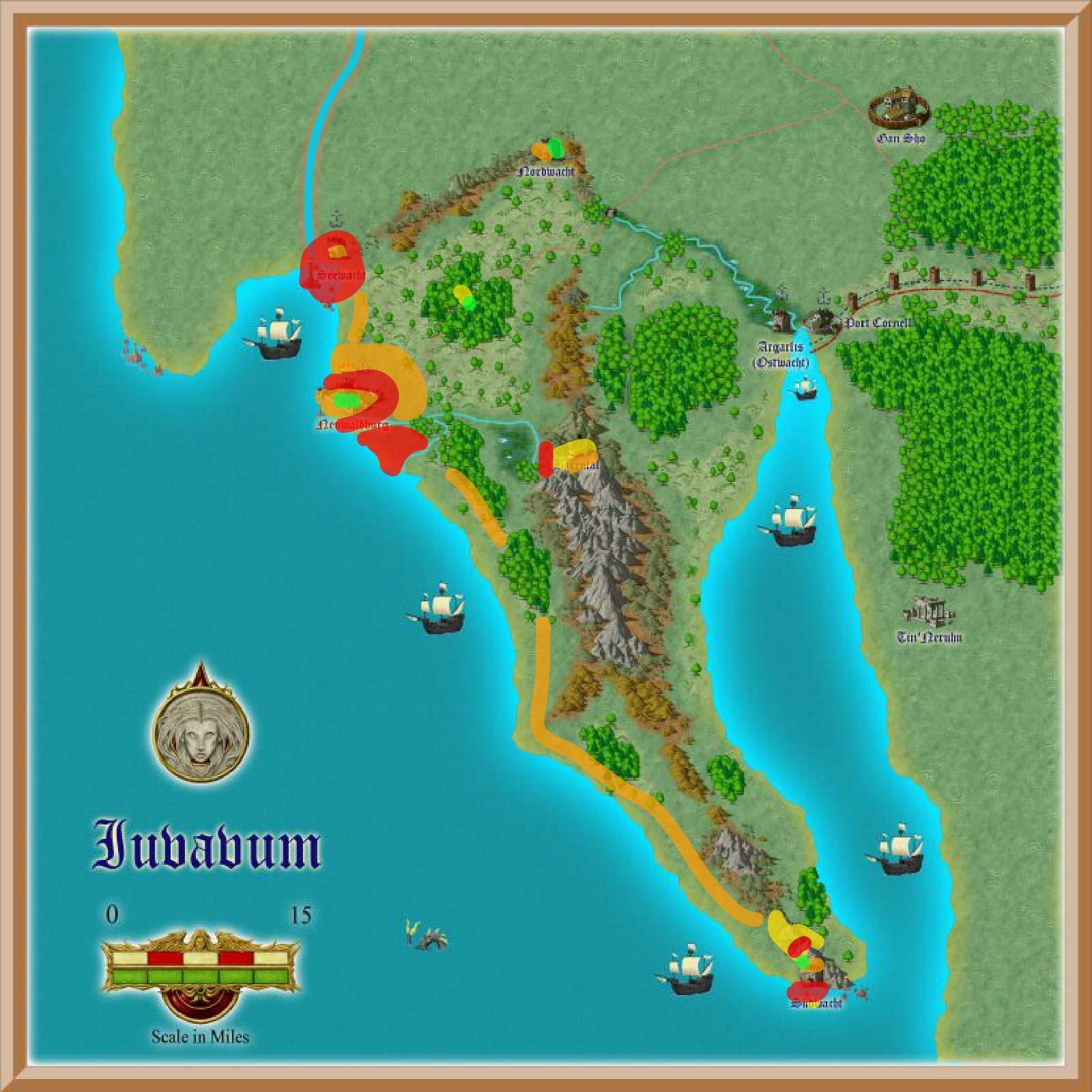 Juvavum Karte